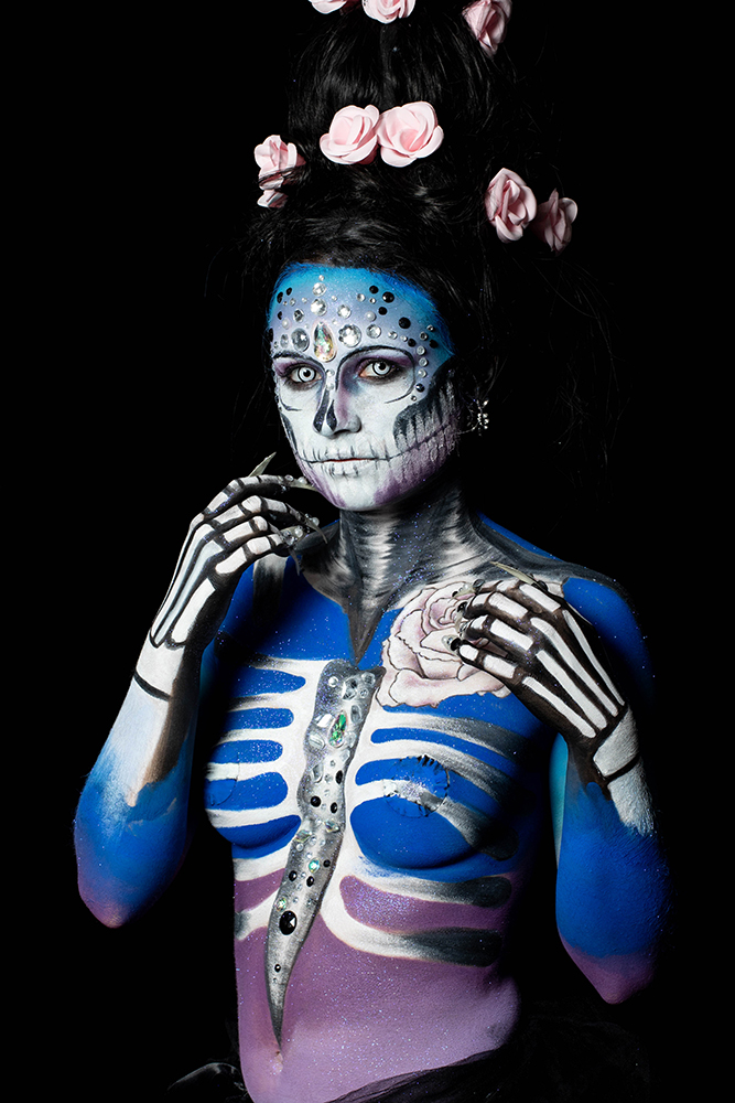 portrait body painting Nantes