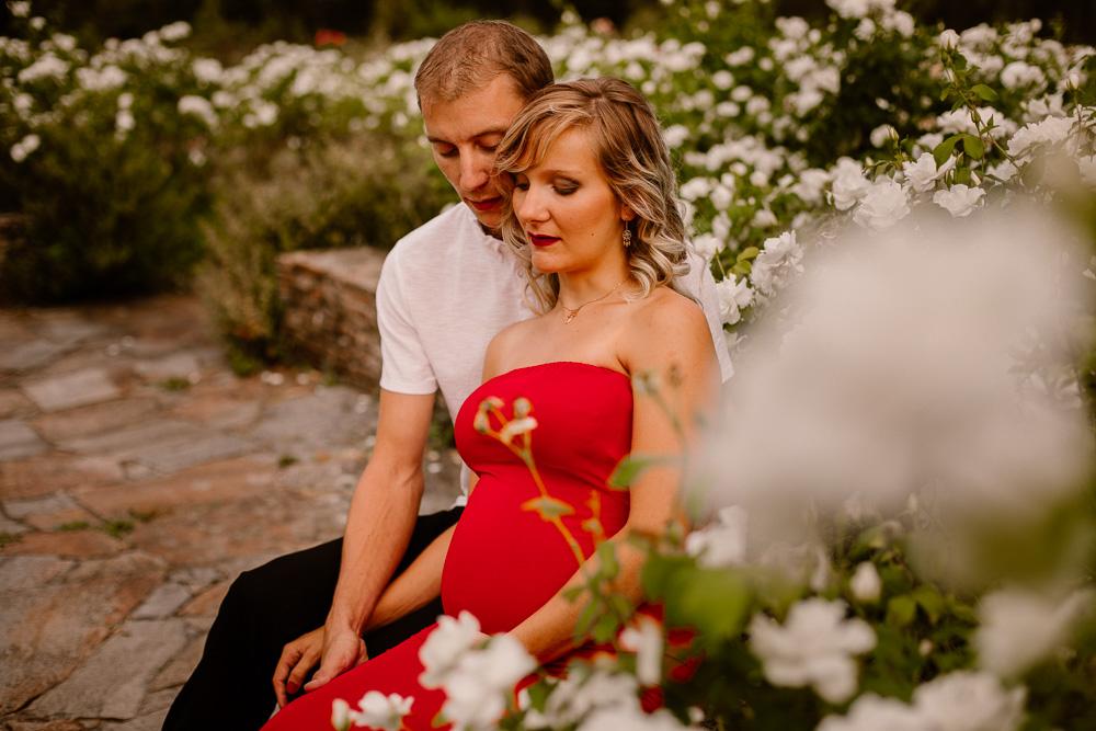 photographe grossesse fleurs parc