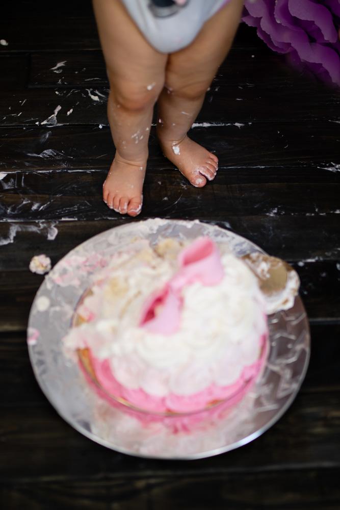 smash cake Nantes studio photo