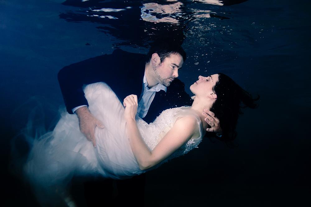 photographe mariage Nantes underwater