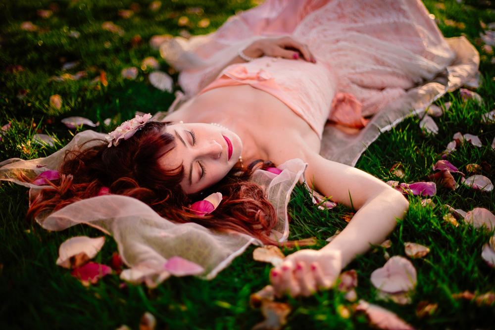 portrait féérique printemps fleurs