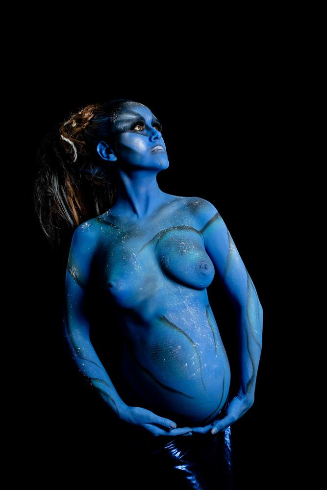 body painting grossesse studio Nantes