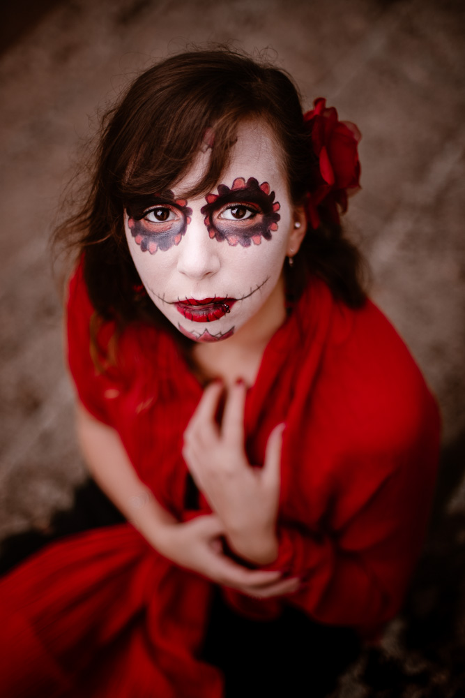 portrait Halloween maquillage Nantes