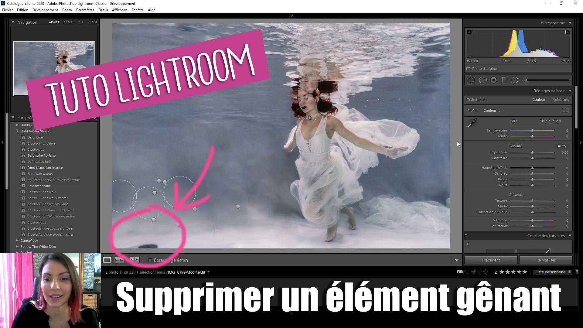 Comment effacer un élément gênant d'une photo avec Lightroom ?