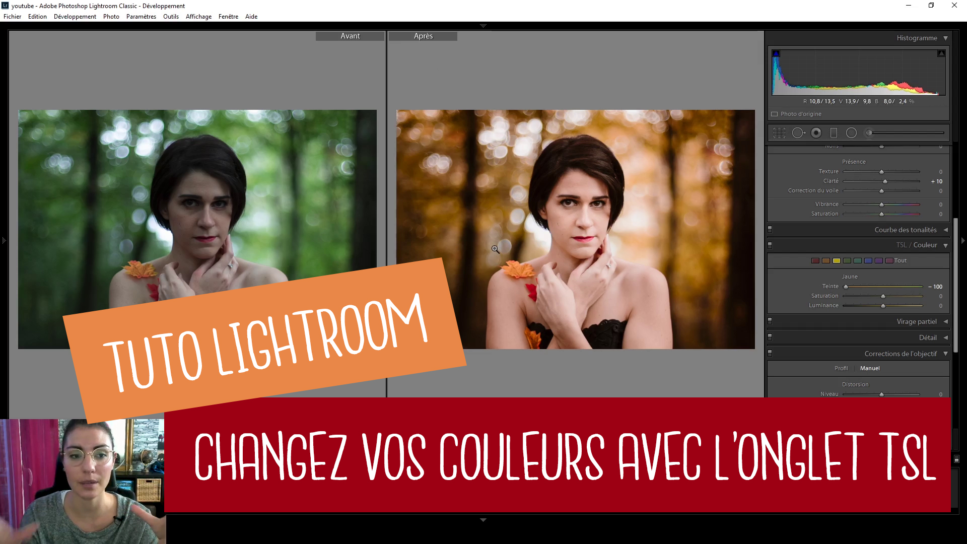 Comment changer vos couleurs grâce à l'onglet TSL : TUTO LIGHTROOM