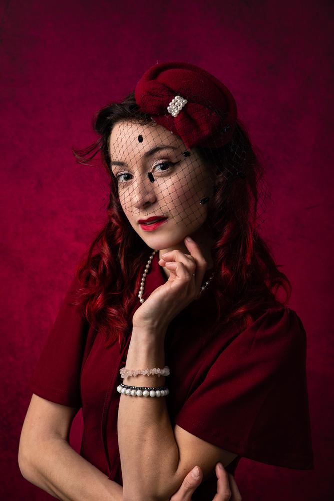 portrait femme vintage studio Nantes glamour