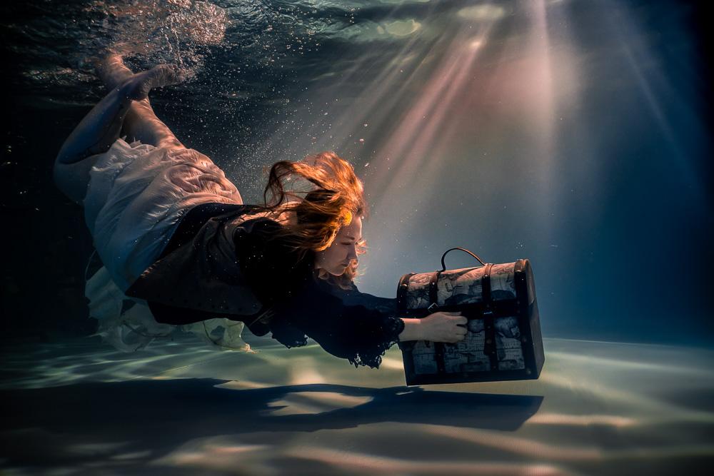 coffre trésor Underwater aquatique photo