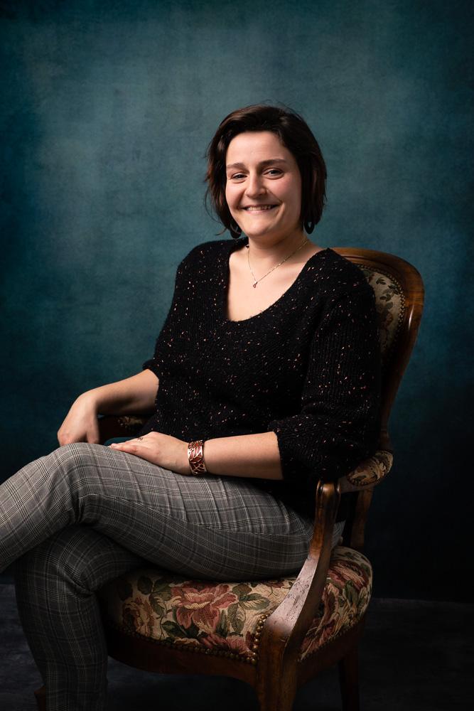 portrait femme studio nantes