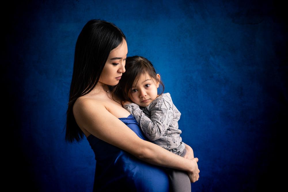 portrait photographe maman enfant Nantes studio
